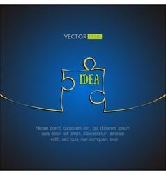 Single puzzle icon background Idea concept vector image