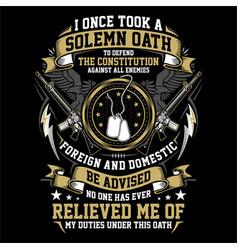 Solemn veteran oath - american veteran vector
