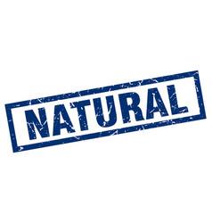 square grunge blue natural stamp vector image