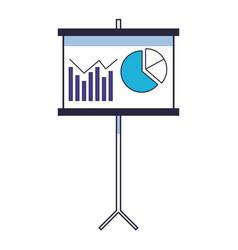 statistics graphic cartoon vector image