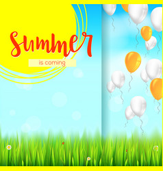 stylish summer advertisement background blue vector image vector image