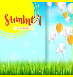 Stylish summer advertisement background blue vector