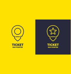 ticket pointer icon on background vector image