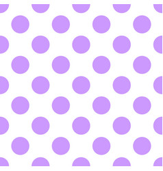 Tile pattern with pastel violet polka dots on whit vector