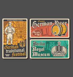 travel to germany retro posters vector image