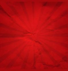 vintage sunburst red paper vector image