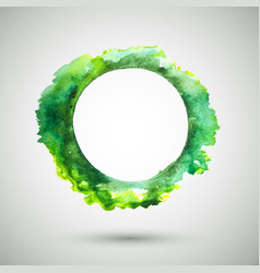 watercolor-ring-green vector image