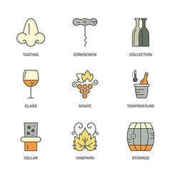 Winery elements vector