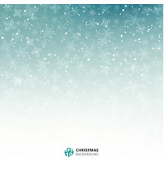 winter blue and white background christmas made vector image