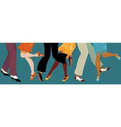 1920s style party vector image