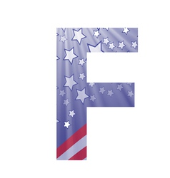 american letter F vector image