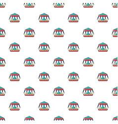 carousel pattern seamless vector image