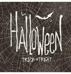 design with hand drawn halloween Vintage ba vector image vector image