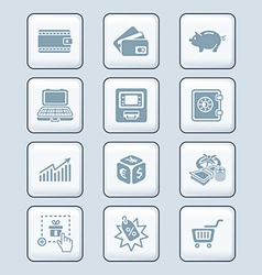 money matters icons - tech series vector image vector image