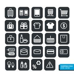 Shopping icons set design vector image