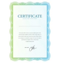 Template that is used in certificate currency and vector image