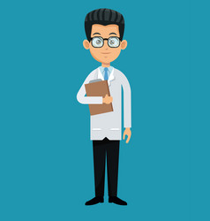 doctor professional healthcare design vector image vector image