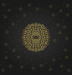 golden circular shape creative eastern symbol vector image
