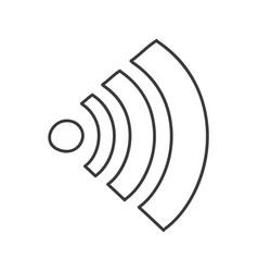 monochrome contour of wifi signal icon vector image vector image