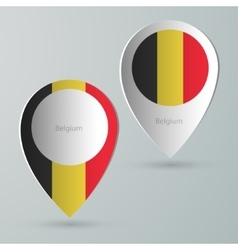 paper of map marker for maps belgium vector image vector image