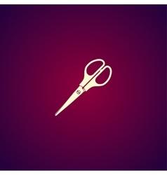 Scissors icon Flat design style vector image vector image