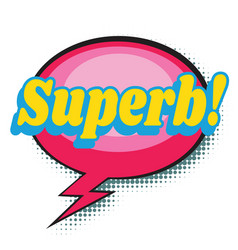 superb comic word vector image