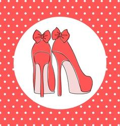 elegant high heels vector image