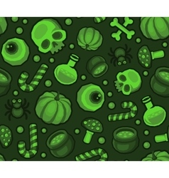 Green Halloween Seamless Pattern Background with vector image vector image