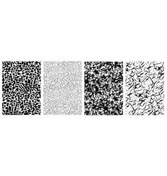 set of seamless grunge pattern in art vector image