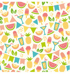 summer party pattern vector image vector image