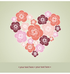 Valentines Day decoration with heart vector image