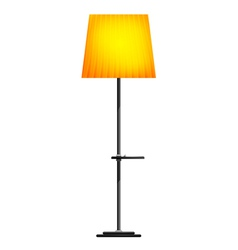 Yellow floor lamp on a white background vector image vector image
