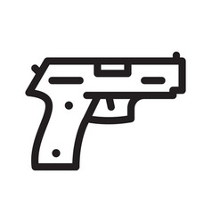 pistol gun icon on the white vector image