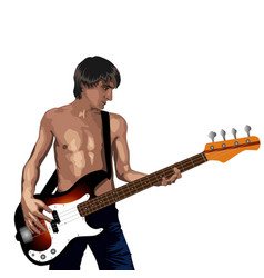 rock star vector image