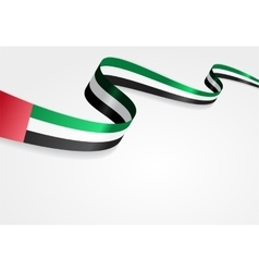 United Arab Emirates flag background vector image