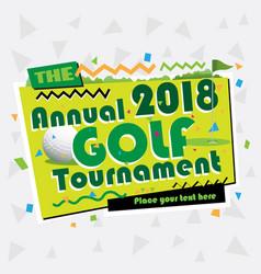 vintage golf summer background vector image vector image