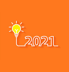 2021 new year creativity lightbulb inspiration vector