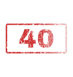 40 rubber stamp vector
