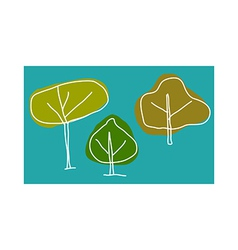 A view of trees vector
