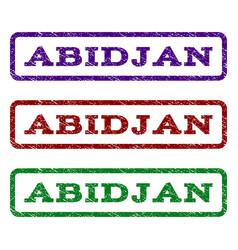 abidjan watermark stamp vector image