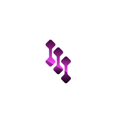 abstract purple digital logo designs inspiration vector image