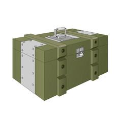 Army ammunition box green military box vector