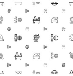 Around icons pattern seamless white background vector