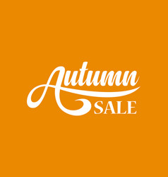 autumn sale calligraphic text vector image