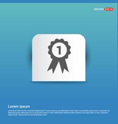 Award icon - blue sticker button vector