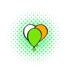 Balloons in irish colors icon comics style vector