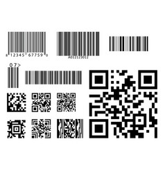 bar code icon qr code symbol vector image