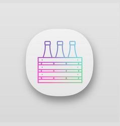 Beer case app icon vector