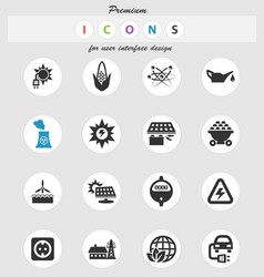 Bio fuel icon set vector