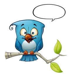 Blue Bird Happy vector image